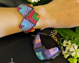 Boho colorful macrame bracelet