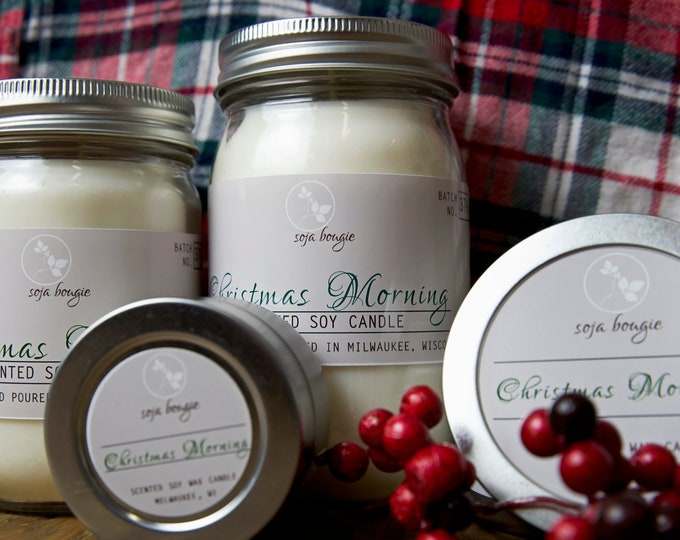 Soy Candle - Christmas Morning - Holiday and Winter Scents