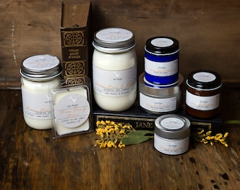 Soy Candle - Honey, Pear & Praline - Fall/Autumn Scents