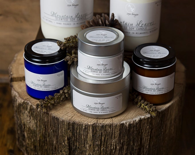 Soy Candle - Mountain Leaves - Fall/Autumn Scents
