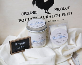 Soy Candle - Fresh Linen - Year Round Fragrance