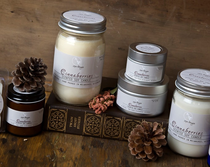 Soy Candle - Cinnaberries - Fall/Autumn Scents