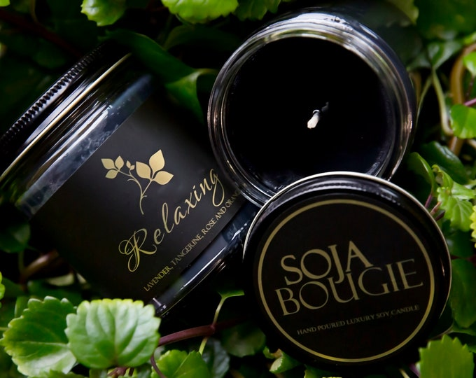 Soja Bougie Noir - Relaxing - Luxury Pure Soy Candle