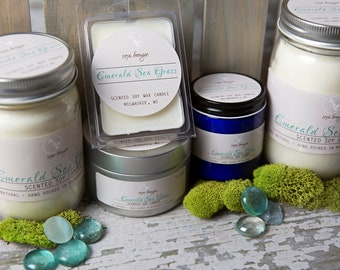 Soy Candle - Emerald Sea Grass - Spring Scents