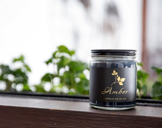 Soja Bougie Noir - Amber - Luxury Pure Soy Candle