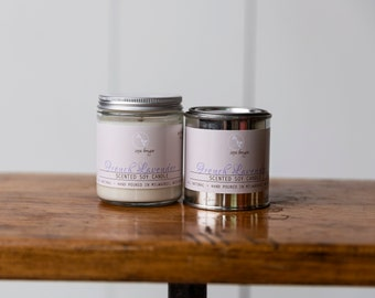 Soy Candle - French Lavender - Year-Round Scent - Essential Oil