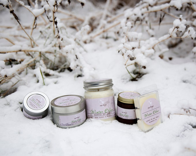 Soy Candle - Winter Cheer - Holiday and Winter Scents