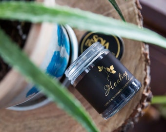 Soja Bougie Noir - Healing - Luxury Pure Soy Candle