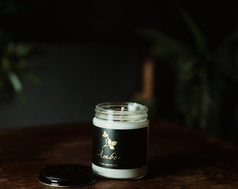 Soja Bougie Blanc - Amber - Luxury Pure Soy Candle