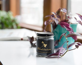 Soja Bougie Noir - Meditation - Luxury Pure Soy Candle