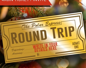 picture regarding Printable Polar Express Tickets Boarding Passes known as Polar specific ticket Etsy
