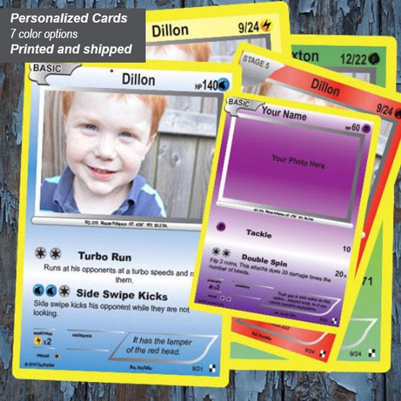 Pokemon Card Gift Invitation Custom Birthday Trade