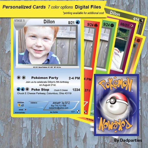 Pokemon Invitation Birthday Invitations Card Cards