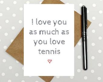 Funny Tennis Card Etsy