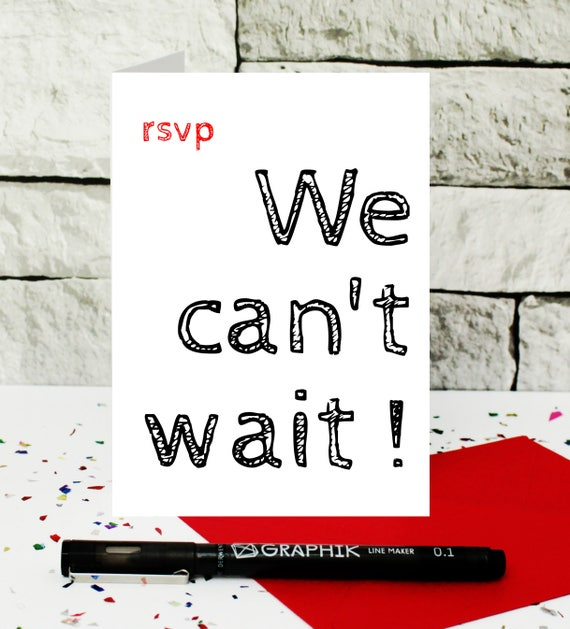 RSVP yes card Size A6