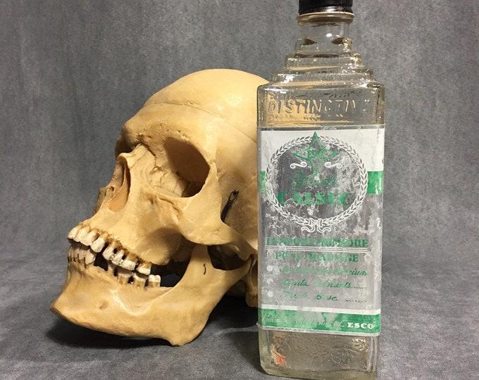 Antique 1940s French embalming Esco bottle