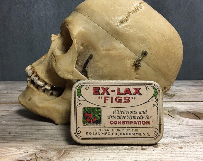 Antique vintage Ex-Lax figs tin box