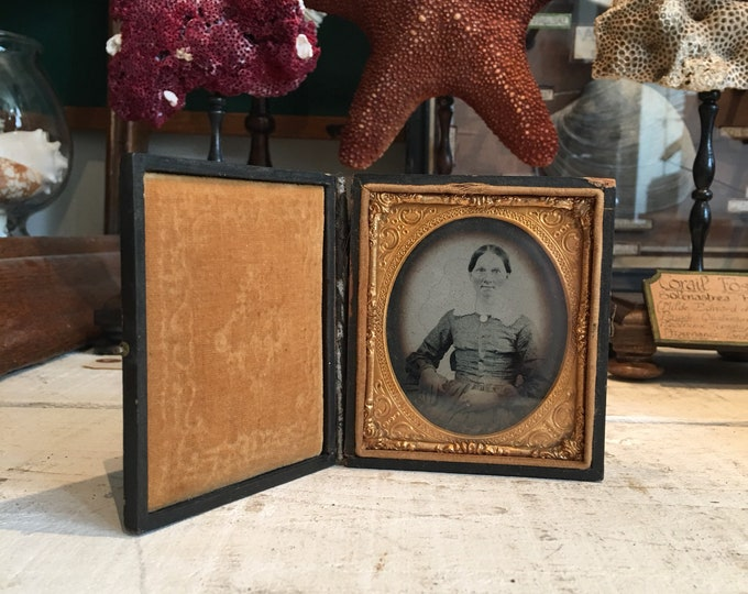 Antique ambrotype in case circa 1860
