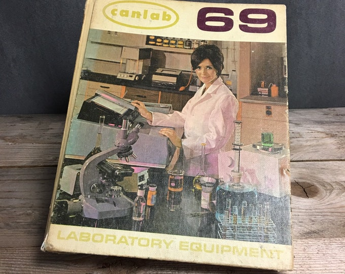 Vintage 1969 Canlab laboratory equipment and supplies catalogue
