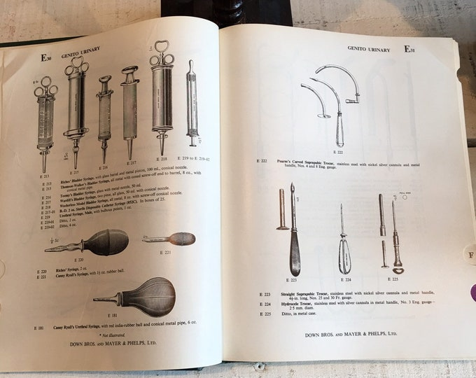 Vintage 1968 Surgical instruments appliances & equipment Downs