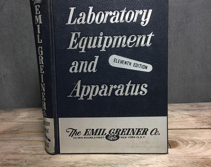 Antique 1949 book Laboratory Equipment and Apparatus