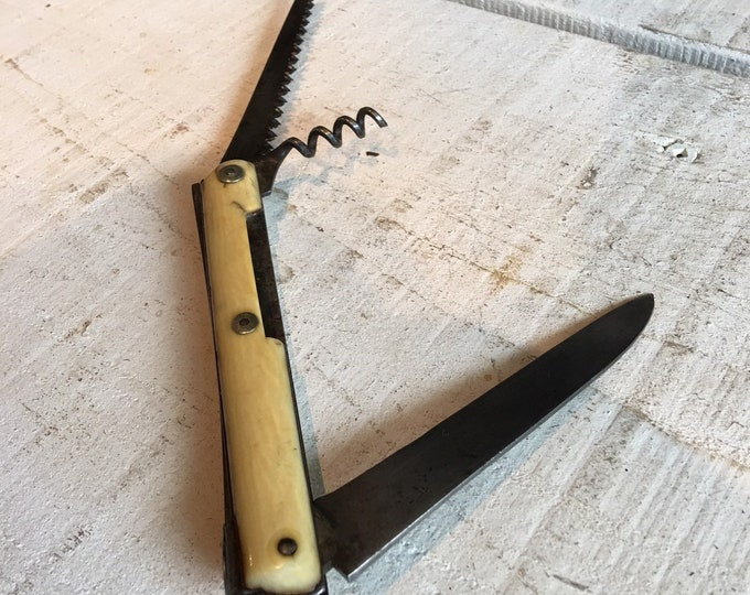 Antique vintage bone penknife multi tool