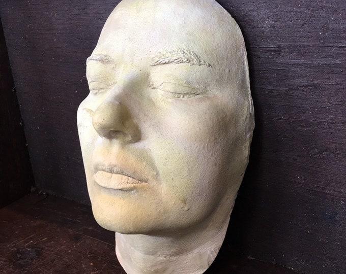Vintage antique plaster face mask