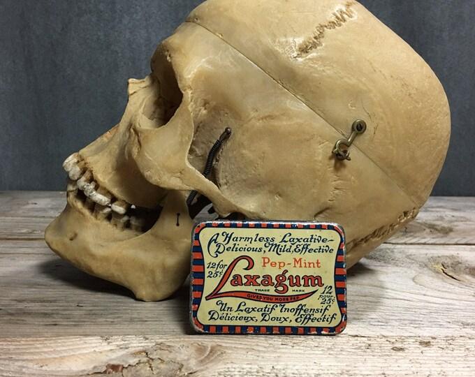 Antique vintage Laxagum tin box laxative Circa 1930