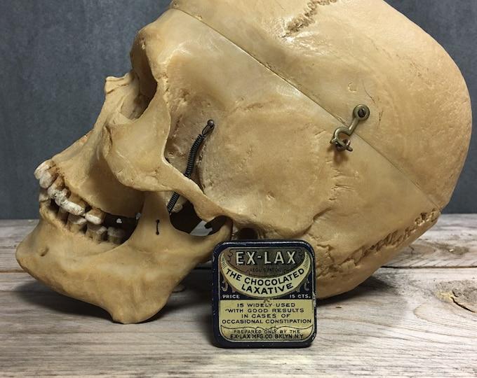 Antique vintage Ex-Lax laxative tin box