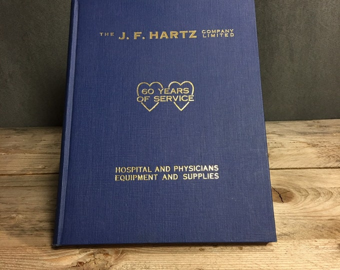 Vintage 1960 J. F. Hartz Hospital and physician equipment and supplies