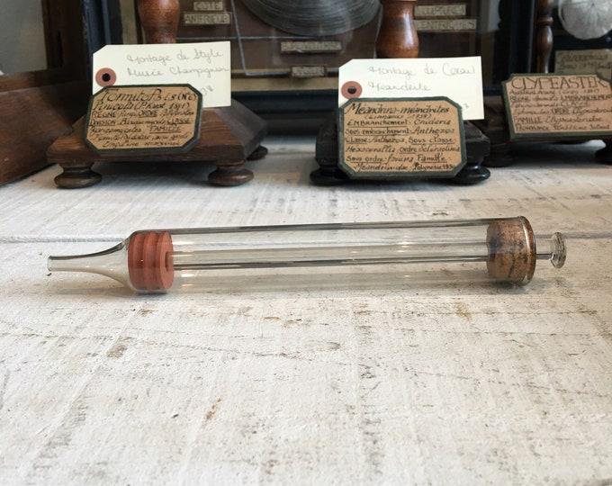 Antique glass syringe 1800
