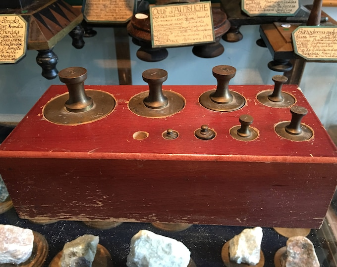 Antique scale weight
