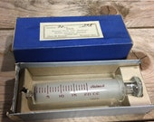 Antique 20cc glass syringe large, Ideal with box made in USA