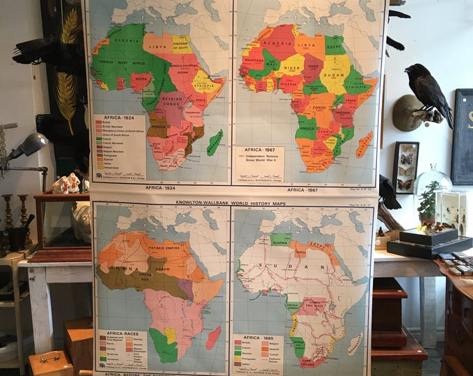 High geographical vintage Nystrom Africa map