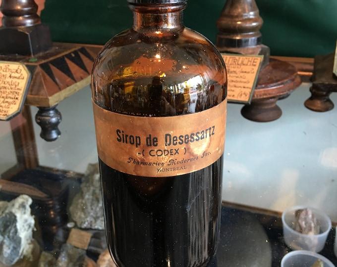 Syrup bottle antique amber bottle desessartz syrup