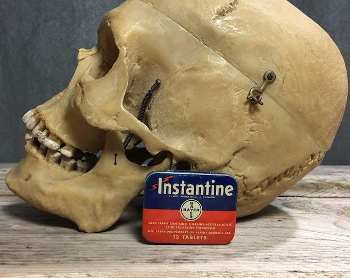 Antique vintage Bayer Instantine  tin box