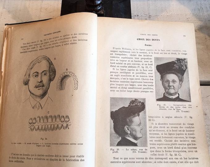 Antique French dentist book 1925 for dental prosthetic