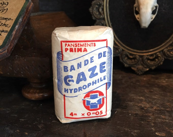 Antique French gaze in original packaging medical antique