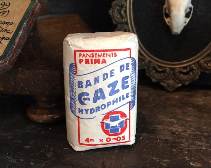 Antique French gaze in original packaging medical antique