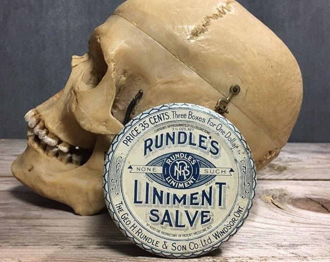 Antique Rubdles liniment salve tin box Circa 1910s