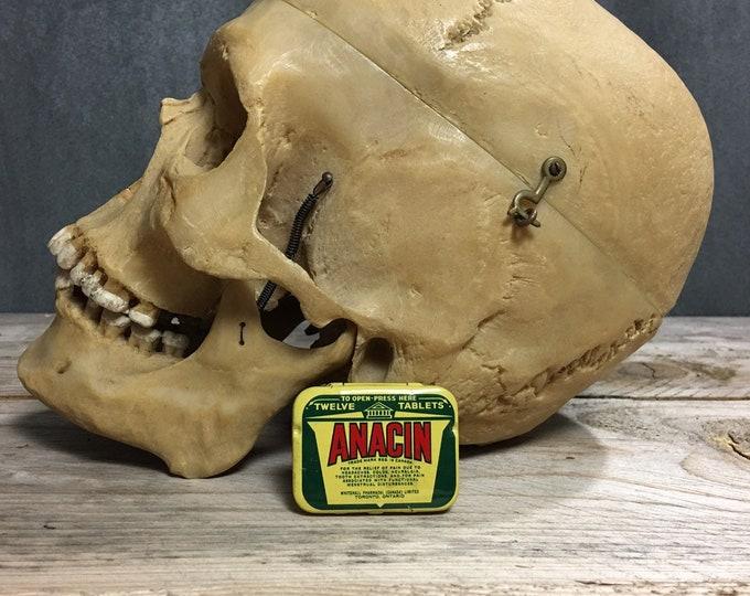 Antique vintage Anacin tin box