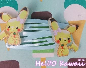 Pikachu hair bow Barrettes