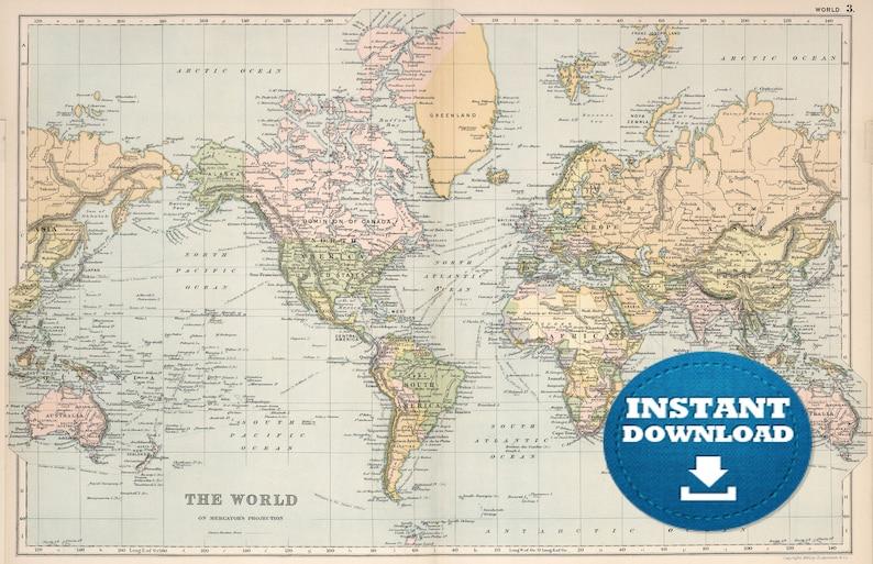 photo regarding Vintage World Map Printable called Electronic Aged Entire world Map Printable Obtain. Basic Global Map. PRINTABLE Map. Superior Environment Map. Higher Option World-wide Map. Poster.United states.Australia