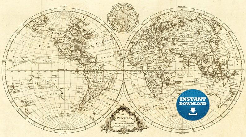Large Map Of Australia Printable.Digital Old World Map Printable Download Vintage World Map Printable Map Large World Map High Resolution World Map Poster Usa Australia