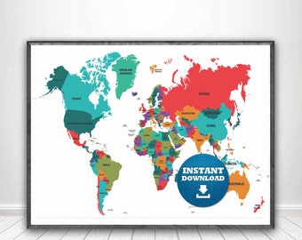 Digital modern political world map printable download large digital modern political world map printable download large world map digital printable maphigh resolution world mapanadastralia publicscrutiny Gallery