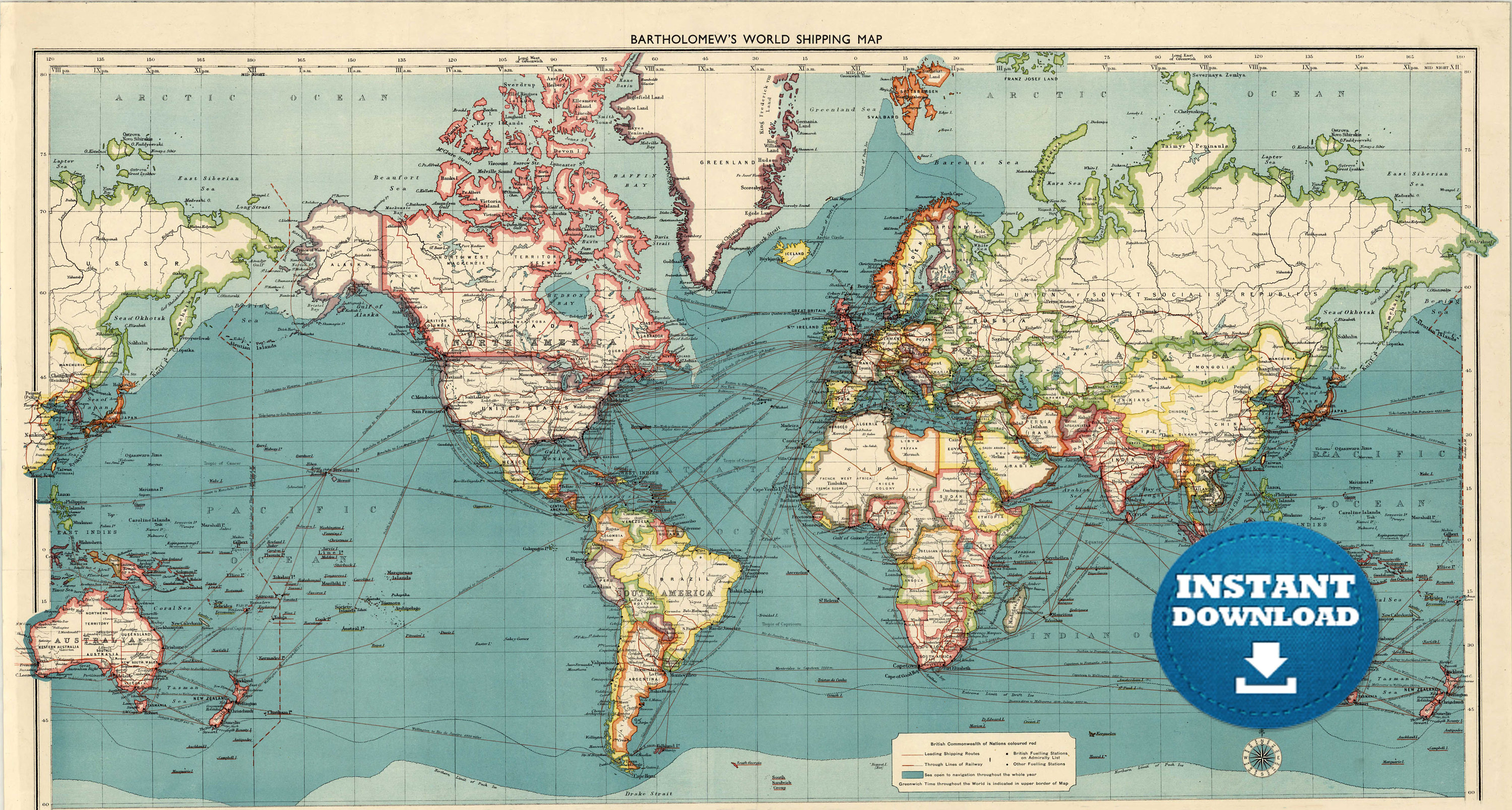 Lively image within vintage world map printable