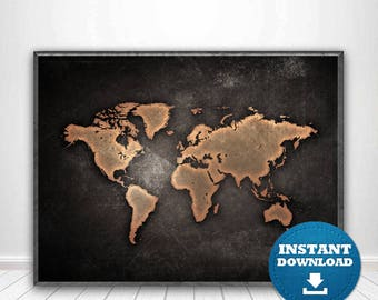 World map print world map poster black and white map black world map print world map poster black and white map black world map black and white wall art printable world map large world map usa gumiabroncs Gallery