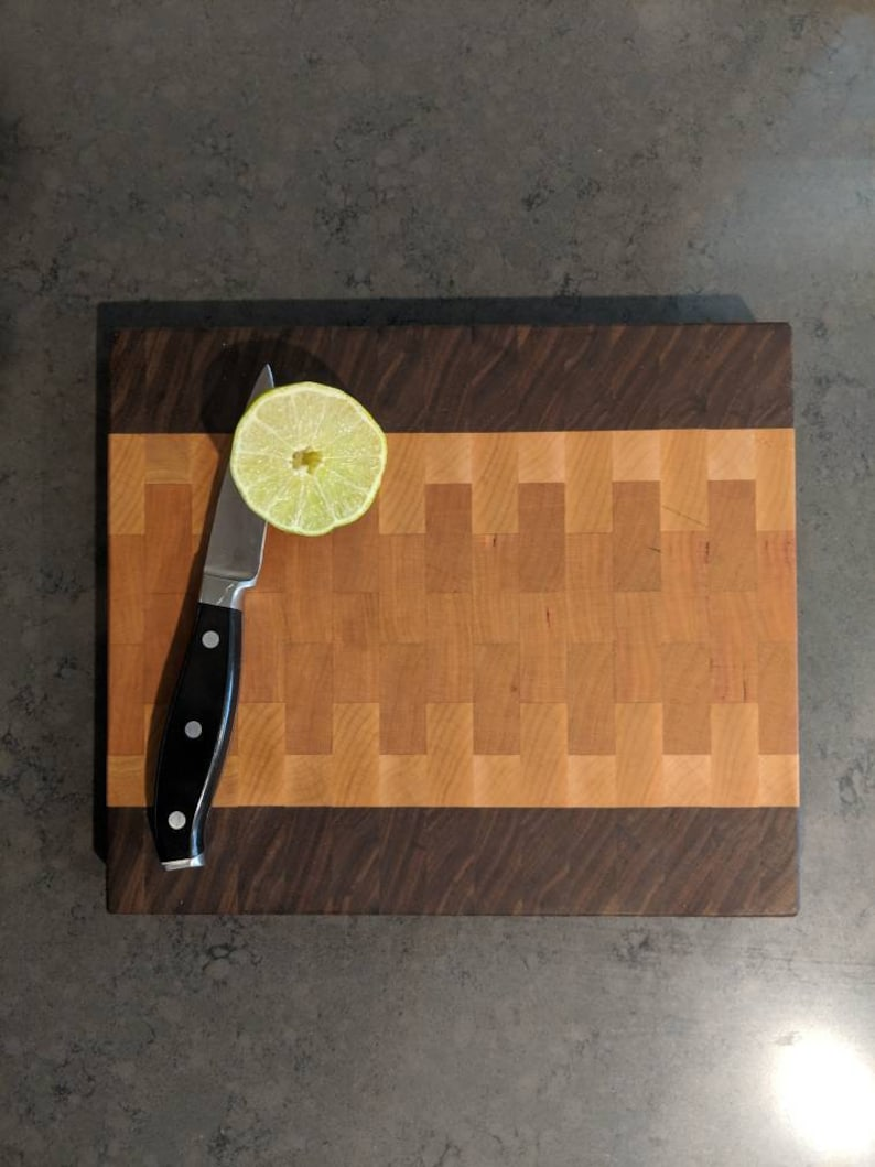 Walnut Cherry and Maple End Grain Cutting Board image 0