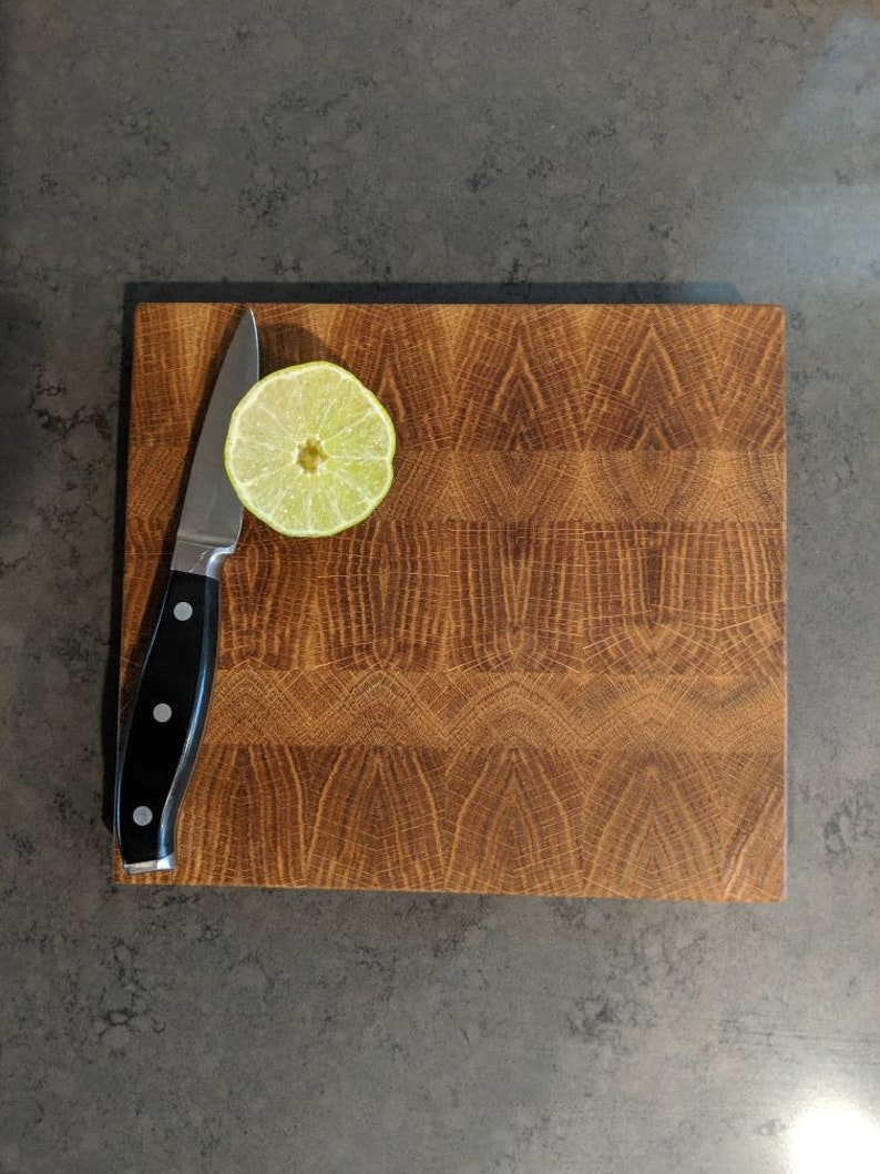 White Oak End Grain Cutting Board image 0