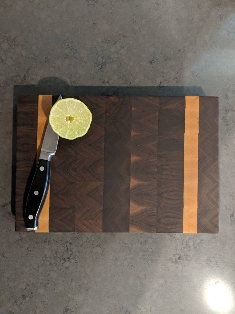 Walnut and Maple End Grain Cutting Board image 0